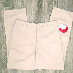 2/$30 NWT Liz Claiborne Audra Khaki Pants 12